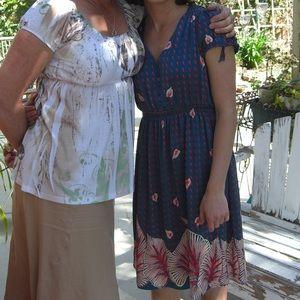 Bilingual Silk Midi dress